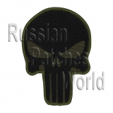 Punisher embroidery patch khaki