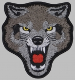 Wolf Angry head embroidery patch #2