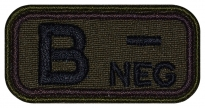 Blood Type Patch B (III) Rh- neg embroidered velcro patch #1