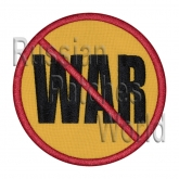 No war embroidered patch