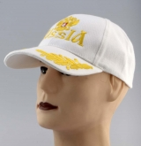 Russia Sign Eagle Crest Baseball Cap Embroidered Hat White engl