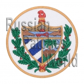 Cuba coat of arms Interkosmos embroidered patch