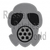 Gas mask Airsoft game embroidered patch v3