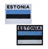 Estonia flag mbroidered patch v.2