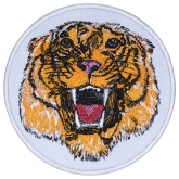 Tiger head embroidery patch #3