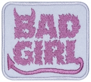 Bad girl machine embroidery patch v3