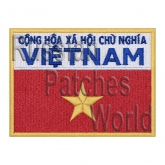 Vietnam flag interkosmos space program patch