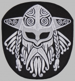 Viking helmet norse ornament embroidered patch v1