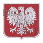 Polska Poland coat of arms Interkosmos Soyuz-30 embroidered patch