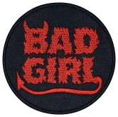 Bad girl machine embroidery patch v4