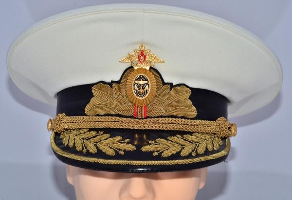 d431216ecf5 Russian Military Navy Admiral Parade Uniform Visor Hat White
