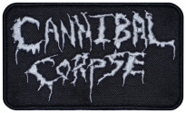 Cannibal corpse american thrash metal, death metal band logo embroidered music patch #2
