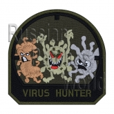 Virus hunter airsoft embroidered patch