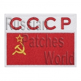 USSR flag space flights uniform sleeve patch v2