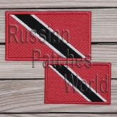 Trinidad and Tobago Republic flag embroidered patch