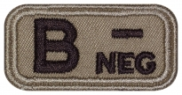 Blood Type Patch B (III) Rh- neg embroidered velcro patch #2