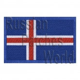 Iceland flag embroidered patch #1