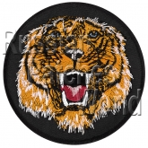 Tiger head embroidery patch #1