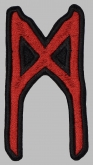Mannaz futhark rune germanic alphabet patch #1
