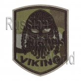 Viking head helmet ornament patch multicam v1