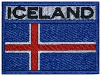 ICELAND flag Embroidered Patch #3