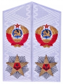 Admiral of fleet of the Soviet Union USSR white shoulder boards replica
