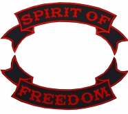 Spirit Of Freedom Biker motorcycle big strip red patches