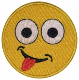 Smile Face smiley embroidered patch #8