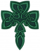 Shamrock clover celtic embroidery patch #2