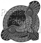 Raven Norse mythology embroidered patch