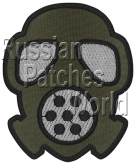 Gas mask Airsoft game embroidered patch