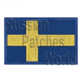 Sweden flag embroidered patch
