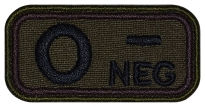 Blood Type Patch O (I) Rh- neg embroidered velcro patch #1