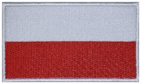 Poland, Polska flag Embroidered Patch #2