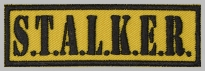Stalker strip embroidered patch #3