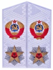 Admiral of fleet of the Soviet Union white shoulder boards replica