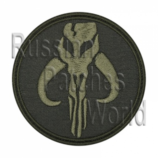 The Mandalorian Star Wars embroidered patch khaki