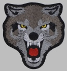 Wolf big embroidery patch #1