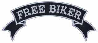 Free biker motorcycle back jacket embroidery strip patch #1
