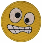 Smile Face smiley embroidered patch #12