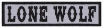 Lone Wolf Biker motorcycle embroidered strip patch #3