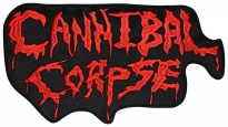 Cannibal corpse american thrash metal, death metal band logo embroidered music patch #3