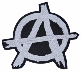 Anarchy punk sign embroidery patch v2