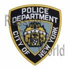 Police New York Department embroidered patch