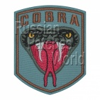 Cobra head snake airsoft embroidered patch