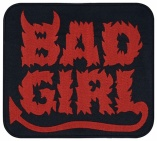 Bad Girl biker punk music jacket embroidered patch red