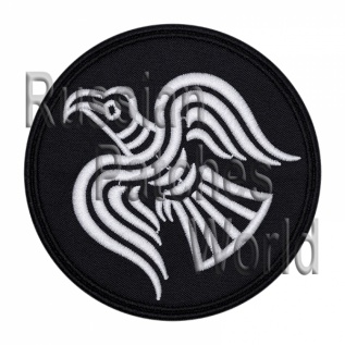 Raven Norse mythology Odin embroidered patch v3