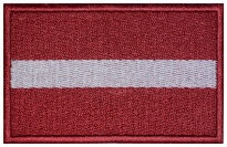 Latvia flag Embroidered Patch #1
