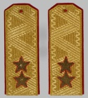General-Lieutenant Russian uniform parade shoulder boards #2