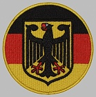 Coat of arms end flag of Germany embroidered patch #1